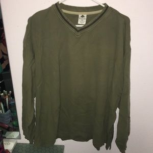 Columbia men's army green sweat shirt